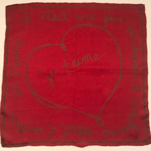 GAP Red Silk Scarf, One Size